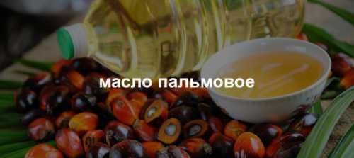 про пальмовое масло
